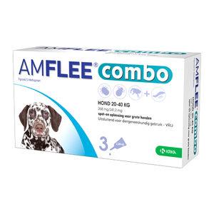 Amflee Combo Spot-on Hond – 268 mg (20-40 kg) – 3 pipetten