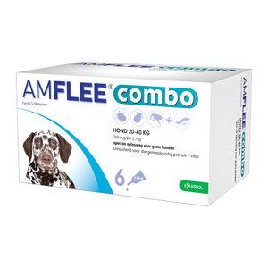 Amflee Combo Spot-on Hond – 268 mg (20-40 kg) – 6 pipetten