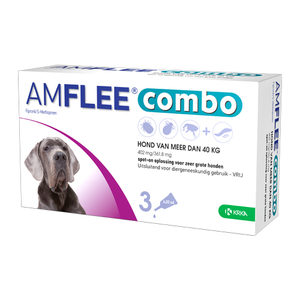 Amflee Combo Spot-on Hond – 402 mg (>40kg) – 3 pipetten