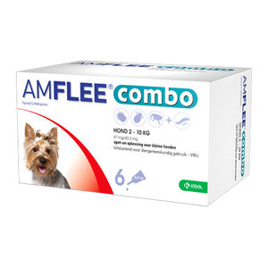 Amflee Combo Spot-on Hond - 67 mg (2-10 kg) - 6 pipetten
