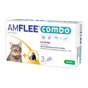 Amflee Combo Spot-on Kat - 50 mg - 3 pipetten