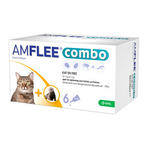 Amflee Combo Spot-on Kat - 50 mg - 6 pipetten