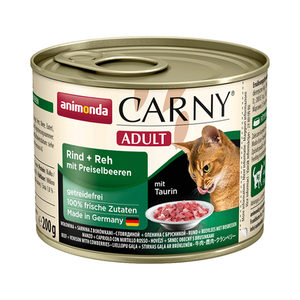 Animonda Carny Adult - Rund met Hert en Koebes - 6 x 200 g