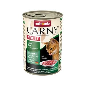 Animonda Carny Adult - Rund met Hert en Koebes - 6 x 400 g