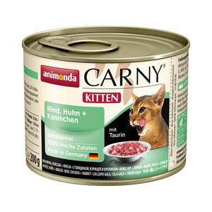 Animonda Carny Kitten - Rund met Kip en Konijn - 6 x 200 g