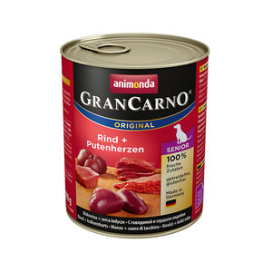 Animonda GranCarno Original Senior - Rund met Kalkoenhart - 6 x 800 g