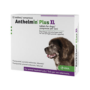 Anthelmin Plus XL (>17.5 kg) - 12 tabletten