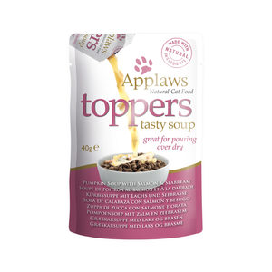 Applaws Cat – Toppers – Salmon & Seabream in Soup – 3 x 40 g