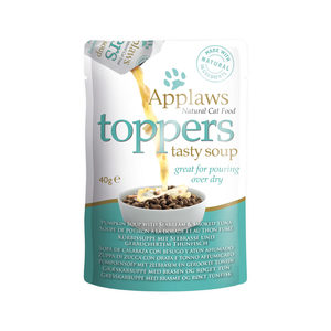 Applaws Cat – Toppers – Seabream & Tuna in Soup – 3 x 40 g