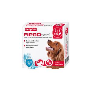 Beaphar FiproTec Spot-On Hond 10 - 20 kg - 3 + 1 pipetten