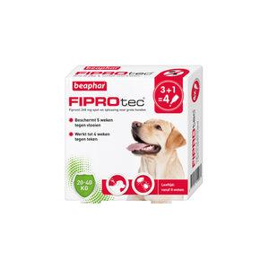 Beaphar FiproTec Spot-On Hond 20 – 40 kg – 3 + 1 pipetten