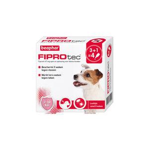 Beaphar FiproTec Spot-On Hond 2 – 10 kg – 3 + 1 pipetten