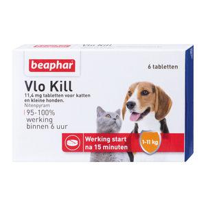 Beaphar Vlo Kill+ - Kat en Hond tot 11kg - 6 tabletten