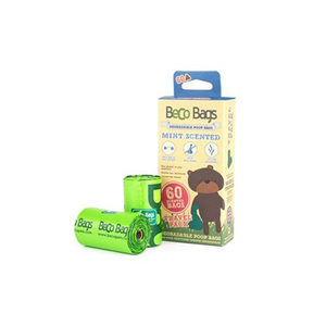 Beco Bags Mint - Travel Pack - 60 poepzakjes (4 x 15)