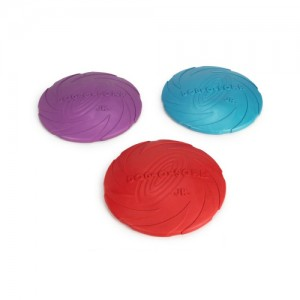 Ipts 22 cm rubber frisbee dog 0 soar assorti