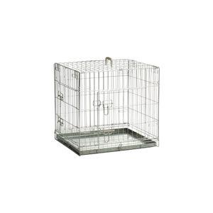 Beeztees Hondenbench Verzinkt – 2 Deurs – 62 x 44 x 49 cm