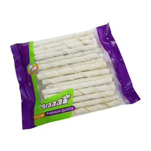 Braaaf Roll Sticks Naturel Wit (290 gram) - 40 x 10 mm