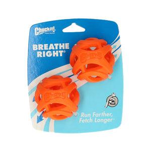Chuckit! Breathe Right Fetch Ball – Medium – ø 6 cm – 2 Pack