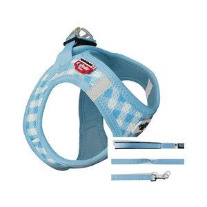 Curli Vest Harness Air-Mesh & Leash Puppy Set - XS - Lichtblauw