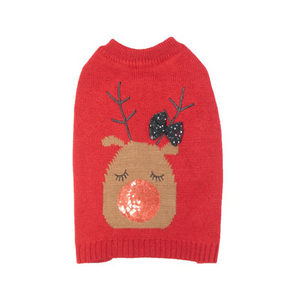 Doglife Christmas Jumpers on the Glitz - L