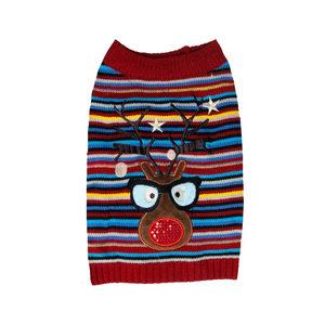 DogLife Flashing Reindeer Jumper – S