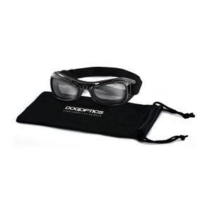 Dogoptics Hondenzonnebril Biker – Black Frame & Smoke Lens – M