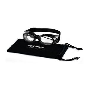 Dogoptics Hondenzonnebril Ibiza – Black Frame & Clear Lens – S