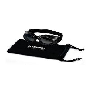 Dogoptics Hondenzonnebril Ibiza – Black Frame & Mirror Lens – S