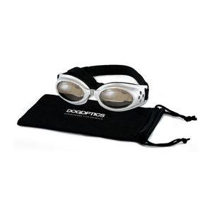 Dogoptics Hondenzonnebril Ibiza – Silver Frame & Mirror Lens – S