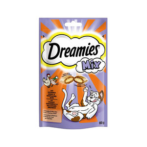 Dreamies Cat Snacks Mix - Kip & Eend - 60 gram