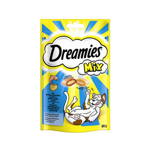 Dreamies Cat Snacks Mix - Zalm & Kaas - 60 gram