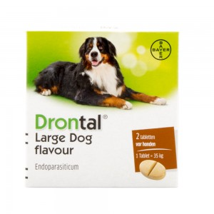 Drontal Large Dog Flavour 2 tabletten