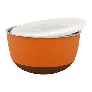 Duvo+ Balance Eetkom met Deksel Oranje 2300 ml