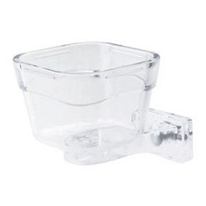 Duvo+ Transparante Eetpot Papegaai - Klein - 9 x 9 x 6,5 cm