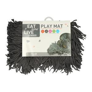 Eat Slow Live Longer Play Mat – Antraciet