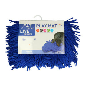Eat Slow Live Longer Play Mat - Donkerblauw