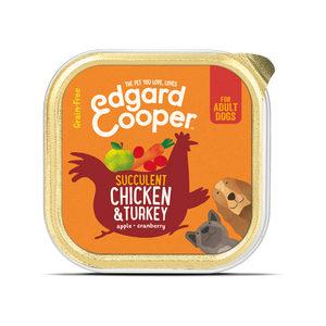 Edgard & Cooper Adult - Kip & Kalkoen - 11 x 150 g kuipjes