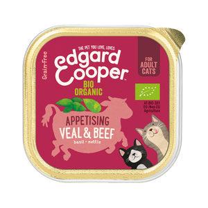 Edgard & Cooper Adult Cat - Biologisch - Rund & Kalf - Kuipje - 19 x 85 g