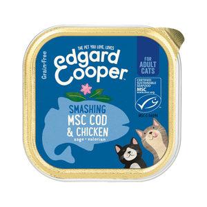 Edgard & Cooper Adult Cat – Kip & Kabeljauw – Kuipje – 19 x 85 g