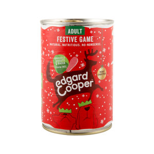 Edgard & Cooper Adult Dog Kerst Blik - 1 x 400g