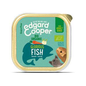 Edgard & Cooper Biologisch Adult – Vis – 17 x 100 g kuipjes