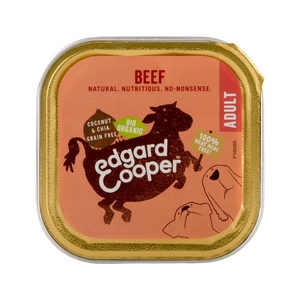 Edgard & Cooper Biologisch Adult Dog Rund Kuipje - 17 x 100g