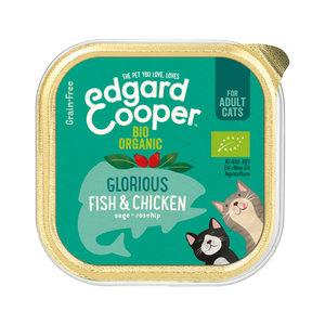 Edgard & Cooper Cat - Biologisch - Kip & Vis - Kuipje - 19 x 85 g