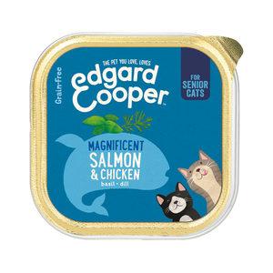 Edgard & Cooper Senior Cat – Kip & Zalm – Kuipje – 19 x 85 g