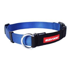 EzyDog Checkmate halsband - XL - Blauw