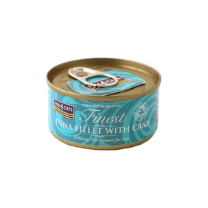 Fish4Cats Finest - Tuna Fillet with Crab - 10 x 70 gram