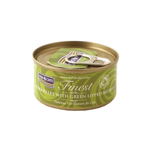 Fish4Cats Finest - Tuna Fillet with Green Lipped Mussel - 10 x 70 gram