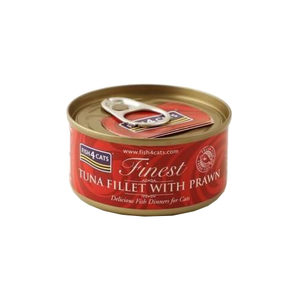 Fish4Cats Finest - Tuna Fillet with Prawn - 10 x 70 gram
