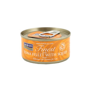 Fish4Cats Finest - Tuna Fillet with Squid - 10 x 70 gram