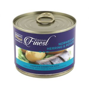Fish4Dogs Finest Wet Complete - Norwegian Herring - 6x 185 gram